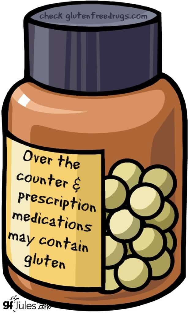 medicine may contain gluten gfJules.com