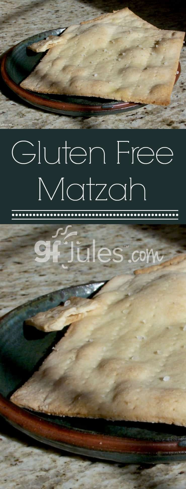 Preparing for Passover? Try this Gluten Free Matzo recipe. These great saltine-like crackers are wonderful for Jewish holidays or any time of year! gfjules.com