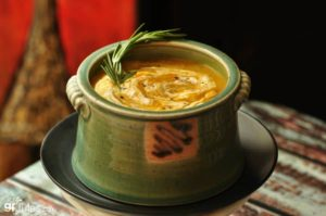 vegan butternut squash soup with rosemary