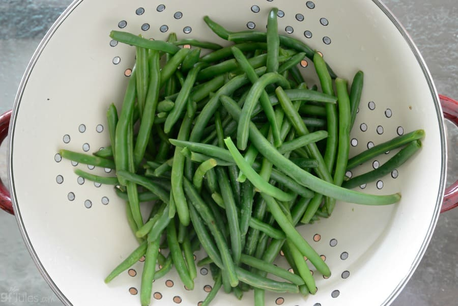 green beans washed