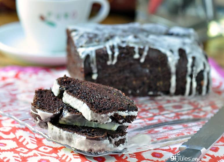Gluten free chocolate coffee zucchini bread