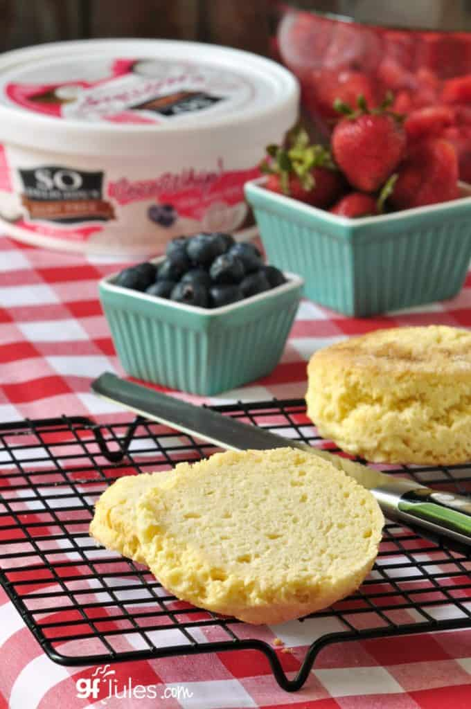 red white and blue gluten free shortcakes with So Delicious gfJules.com