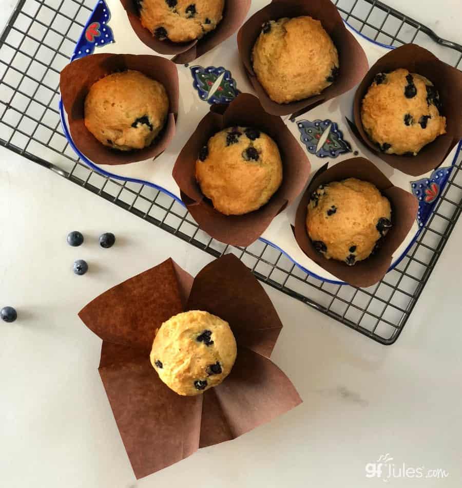 gluten free lemon berry muffins
