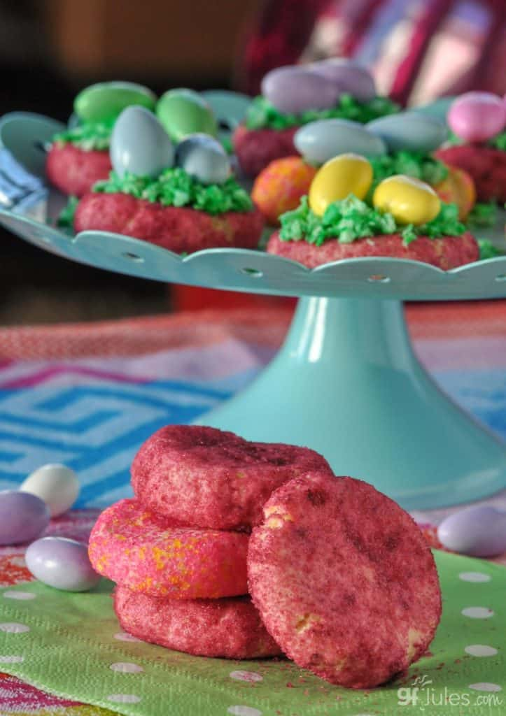 gluten free sugar cookies with colored sugar