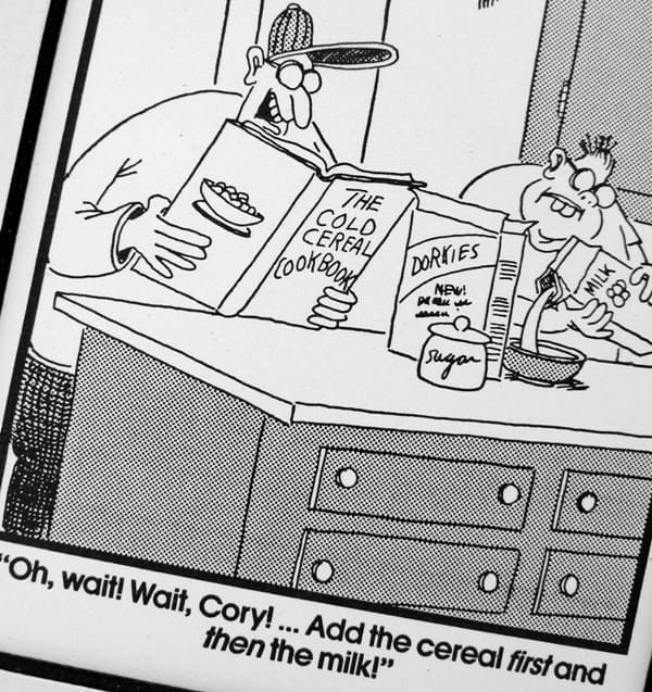 cookbook reading cartoon