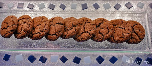 Gluten Free Chocolate Cookies in a line