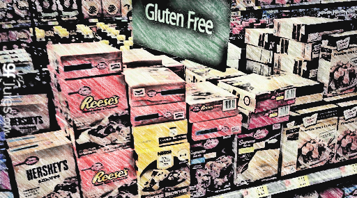 not gluten free in gluten free section of wal-mart