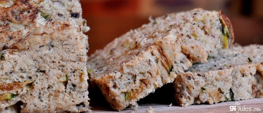 gluten free lentil zucchini bread banner - gfJules