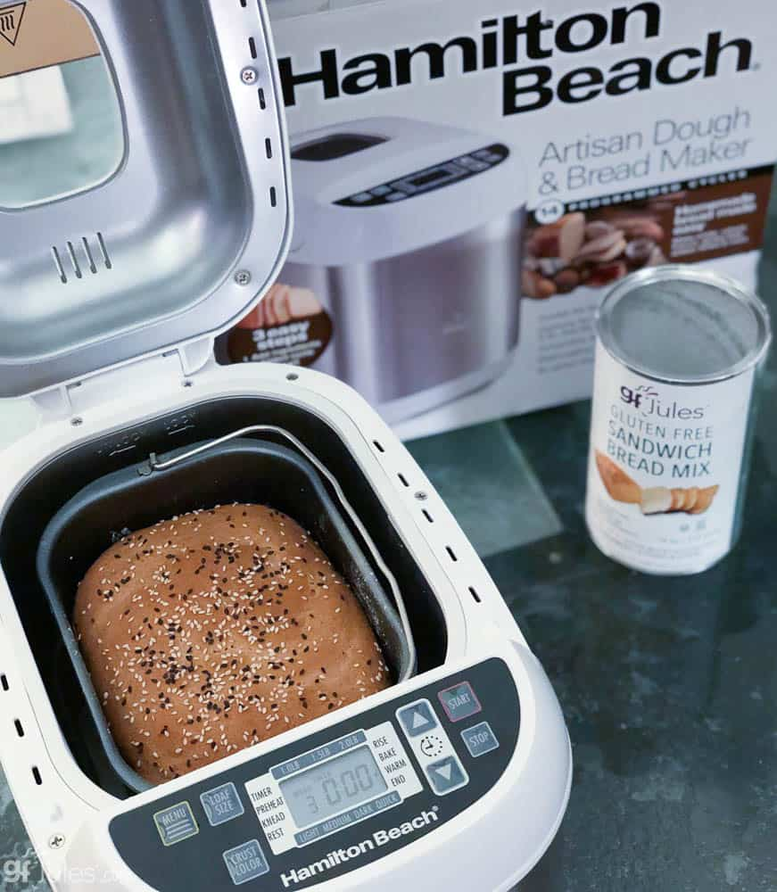 gluten free bread in Hamilton Beach Bread maker