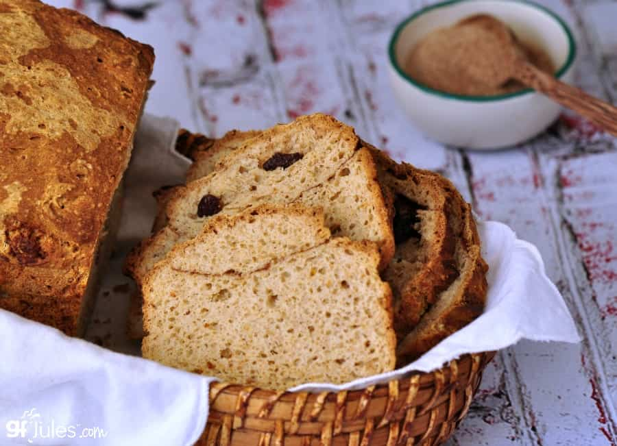 Gluten Free Cinnamon Raisin Bread Recipe