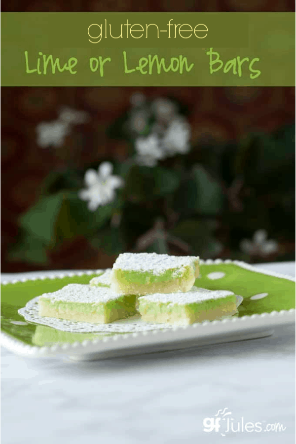 Gluten Free Lime or Lemon Bars by gfJules