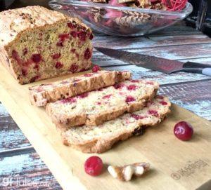 Gluten Free Cranberry Orange Quick Bread