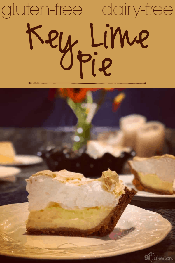 This remarkably easy (yes, EASY!) gluten free, dairy free Key Lime Pie is so delicious, tart and sweet, and impressive to serve.