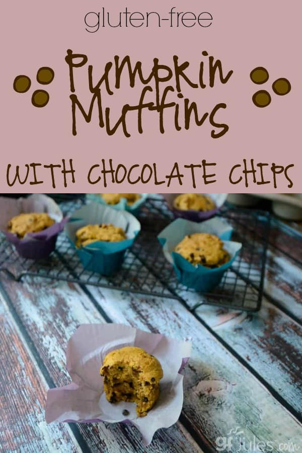 Gluten Free Pumpkin Muffins with Chocolate Chips - gfJules