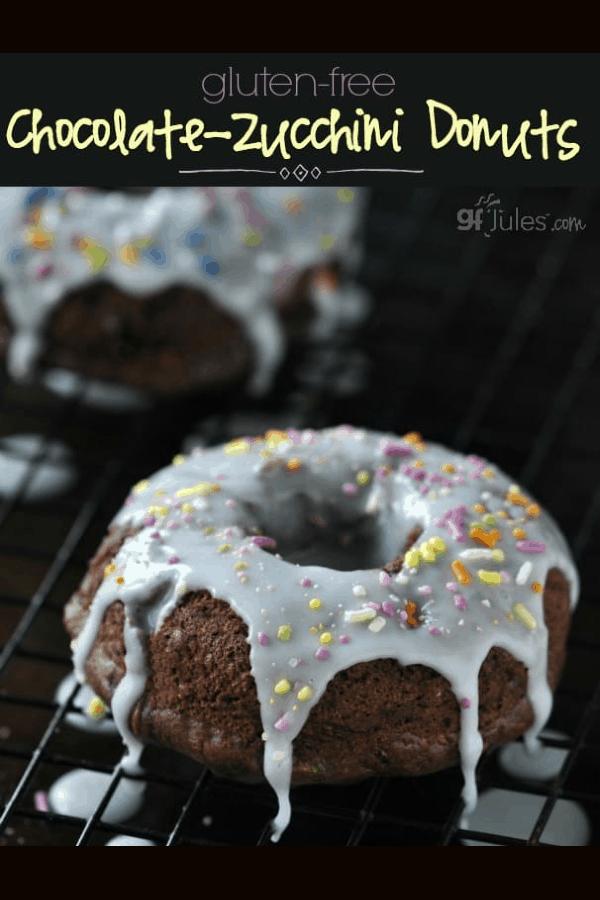 Gluten Free Chocolate Zucchini Donuts - baked or fried, donuts or donut holes or even muffins! ALL YUM! made with gfJules