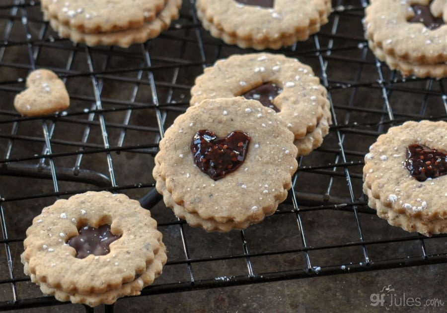 Gluten Free Chocolate Linzer Cookie Recipe